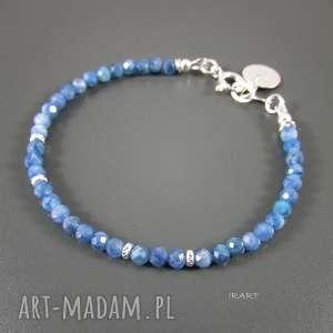 Niebieski kyanit -bransoletka, kyanit, srebro