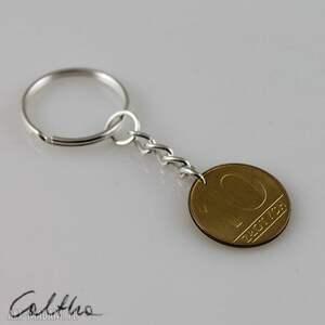dziesiątka - breloczek do kluczy, brelok, breloczek, recykling, dziesięć, złotych