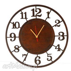 handmade zegary cichy, drewniany zegar 45 cm, wyraźne cyfry