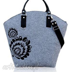 handmade torebki hobo łowiczanie na mazurach szukają jesieni;-) - czarny bez