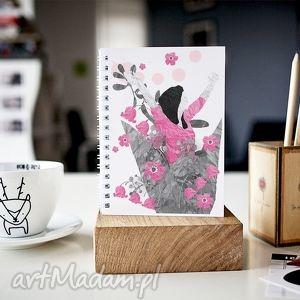 EKSPLOZJA KWIATÓW... - NOTES A5, notes, zeszyt, skoroszyt, gładki, kobiecy, kwiaty
