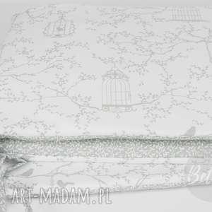 ochraniacz do łóżeczka ptaszki listki - ochraniacz