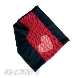 Prezent Awangardowy interesujący szal komin :: UWIĘZIONE SERCE ::, szal, komin, serce