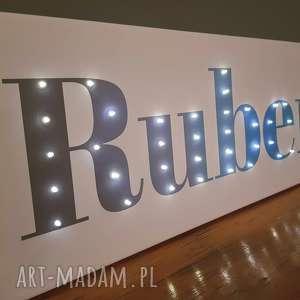 Prezent NAPIS LED Toje Imię ombre świecące litery obraz dekoracja lampa