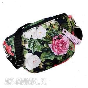 nerka xxl gardenia, nerka, torebka, róże, romantyczna, vintage, zapętlonanitka