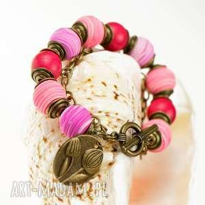 letnia bransoletka z howlitów c507, bransoletka, biżuteria kamieni
