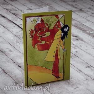 handmade kartki podróż - Karteczka na życzenia