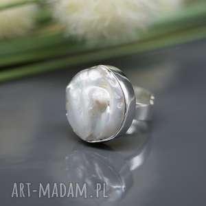 perła słonowodna - pierścionek sasha, pierścionek, perła, naruralna