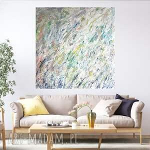 obraz akrylowy ręcznie malowany 100x100, duży obraz, akrylowy, jasny