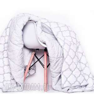 Narzuta FRESH GREY-WHITE 155x205cm od majunto, kapa, narzuta-marokańska