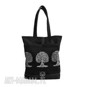 Torebka bodhi tree canvas, kobieta, orientalny, wzór, indyjska, pojemna, solidna