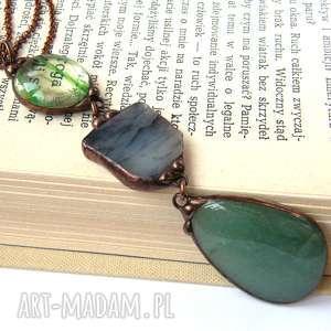 naszyjnik z długim wisiorem zielony - wisior-z-łańcuszkiem