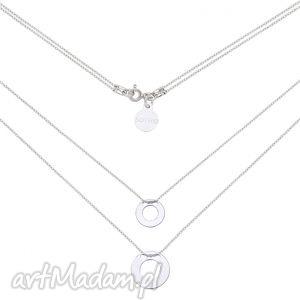 srebrny podwójny naszyjnik z dwoma karmami sotho, zawieszki srebro