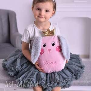 Prezent Przytulanka dziecięca królik z imieniem, przytulanka-królik