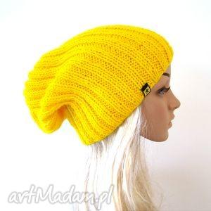 żółta czapka unisex, czapka, czapeczka, krasnal, lekka, pachnąca