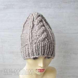 gruba czapka alpaka, gruba-czapka, zimowa-czapka, alpaka-czapka, modna-czapka