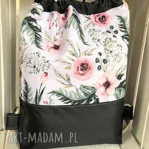 Worek plecak wodoodporny róże, worek, plecak, wodoodporny, szkoły, przedszkola