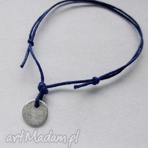 okrąg bransoletka, srebro, sznurek, święta prezent