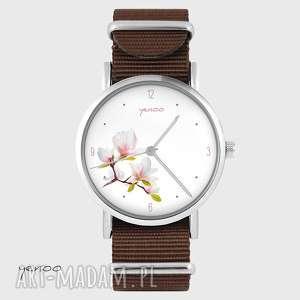 Prezent Zegarek - Magnolia brązowy, nato, zegarek, bransoletka, magnolia