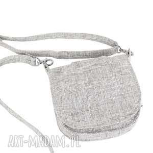 MINI TOREBKA MANA MANA# SZARO-BIAŁA, torebka-mini, elegancka, podręczna, na-wyjścia