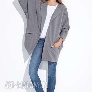 Bien Fashion SZARA BLUZA OVERSIZE KARDIGAN NARZUTKA , oversize, luźna, ciepła