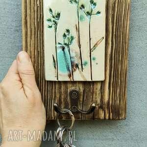 wieszak na klucze trawy, klucze, ścianę, wieszaki