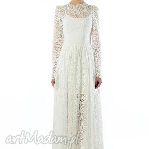 koronkowa suknia ślubna, koronkowa, wieczorowa