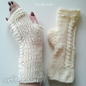 rękwiczki-mitenki, mitenki, dodatki, rękawiczki, wełniane