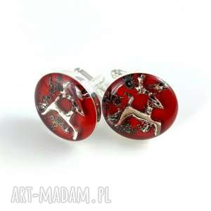 SPINKI - JELONKI - RED, steampunk, spinki-steampunk, spinki-mechanizmy, mechanizmy,