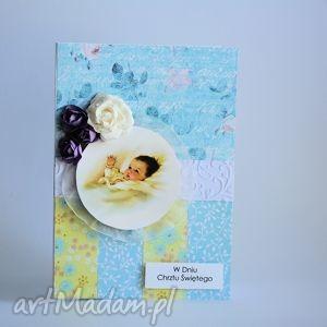 motylarnia kartka - w dniu chrztu św nr 3, kartka, chrzest, dziecko, niemowlę