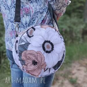 ręcznie wykonane na święta upominki round bag - kwiaty retro