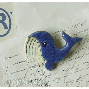 hand made broszki broszka wielorybek
