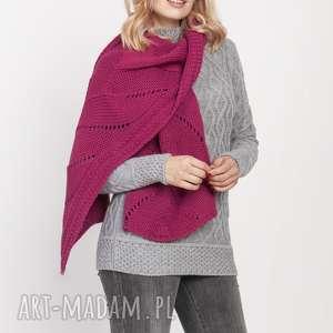 mkm swetry dzianinowy szal, szal001 amarant mkm, do pracy, doszkoły, jesień