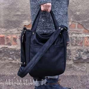 MinIKS vegan czerń nubuk faktura, torba, torebka, casual, minimal, city