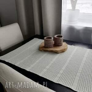 the wool art duży bieżnik, dom, obrus, serweta, nastół, szydełkowy