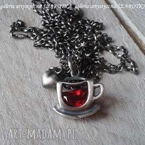 naszyjniki owocowa na rozgrzewkę naszyjnik z cyrkonii i srebra, cyrkonia, srebro