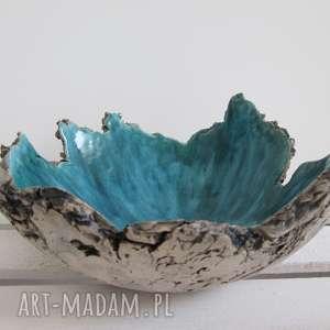 Sardynia artystyczna miska, ceramiczna, misa, jak-skała, nieregularna, nowoczesna