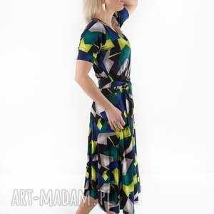 sukienki sukienka liberty wzór, sukienka, spodnie, dres, spódnica, kombinezon