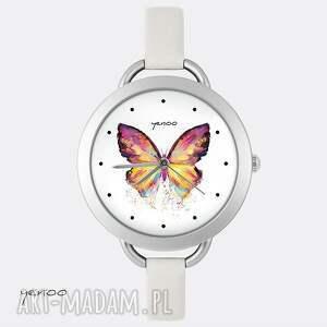 Prezent Zegarek, bransoletka - Motyl, zegarek, bransoletka, motyl, skórzany, mały