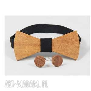 ZESTAW #15, muszka, drewno, mahoń