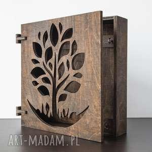 szafka na klucze drzewko drewniana palisander, szafkanaklucze, klucze