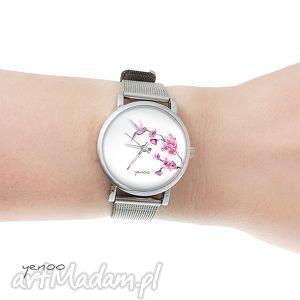 Prezent Zegarek, bransoletka - Koliber mały, zegarek, bransoletka, koliber, kwiat