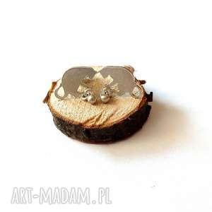 Srebrne kolczyki kotki z kuleczką jachyra jewellery srebro, mini