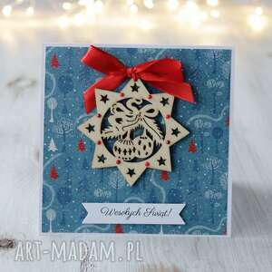 kartka świąteczna z gwiazdką - boże narodzenie, prezent