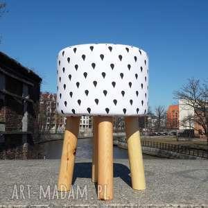 pufa krople deszczu - 45 cm, krzesło, puf, hocker, vintage, siedzisko, stołek