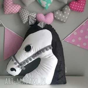 przytulanka dziecięca koń głowa biała, poduszka koń, maskotka