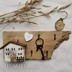 wieszak na klucze z domkiem, dom domek, klucze, do powieszenia