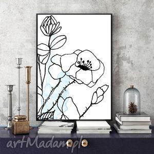 art print... 30x40 cm., plakat, kwiaty, ilustracja, a3, dekoracja