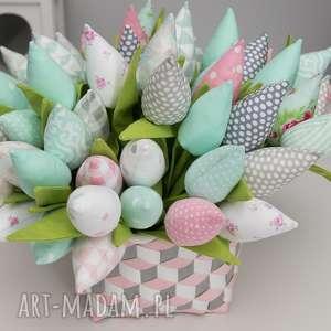 oryginalny prezent, tulipany 12 szt, kwiaty, tulipany, babcia dekoracje