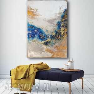 art is hard gallery - lazure ręcznie malowany obraz na płótnie 100x70 cm